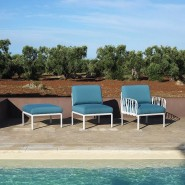 Модуль Komodo Centrale Bianco Adriatic Sunbrella® (40373.00.142) - Центральний модуль Komodo Elemento Centrale Nardi