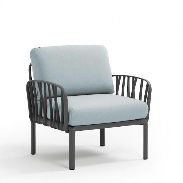Модульне крісло Komodo Poltrona Antracite Ghiaccio Sunbrella® (40371.02.138) - Модульне крісло Komodo Poltrona Nardi