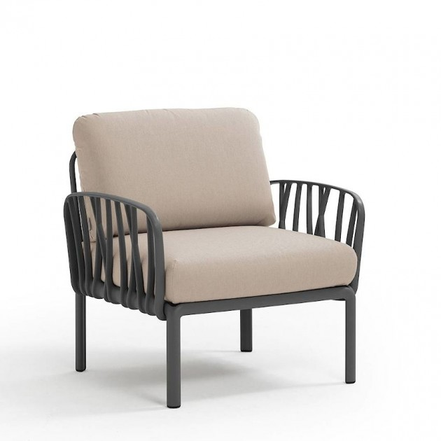 Модульне крісло Komodo Poltrona Antracite Canvas Sunbrella® laminato (40371.02.170) - Модульне крісло Komodo Poltrona Nardi