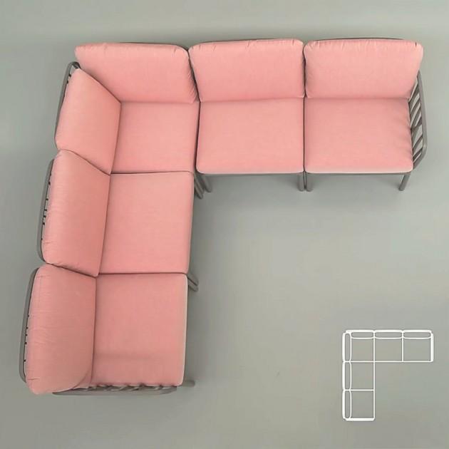 Диван Komodo 5 Agave Rosa Quarzo (40370.16.066) - Диванний комплект Komodo 5 Nardi
