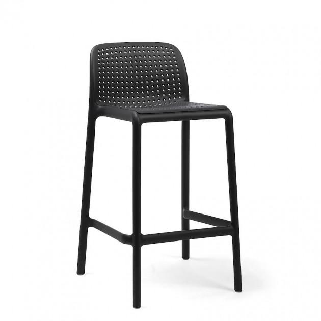 Напівбарний стілець Lido Mini Antracite (40345.02.000) - Вуличні барні стільці Nardi