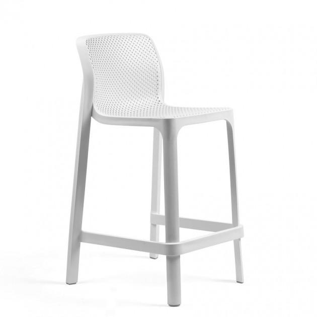 Напівбарний стілець Net mini Bianco (40356.00.000) - Вуличні барні стільці Nardi