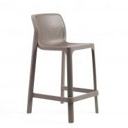 Напівбарний стілець Net mini Tortora (40356.10.000) - Вуличні барні стільці Nardi