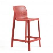 Напівбарний стілець Net mini Corallo (40356.75.000) - Вуличні барні стільці Nardi
