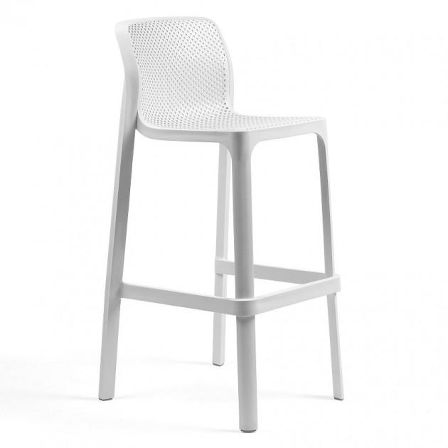 Барний стілець Net Bianco (40355.00.000) - Вуличні барні стільці Nardi