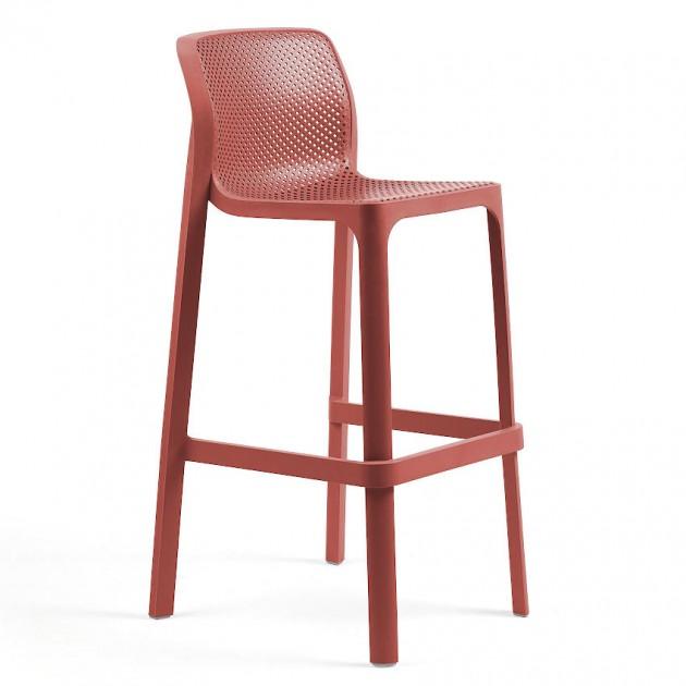 Барний стілець Net Corallo (40355.75.000) - Вуличні барні стільці Nardi