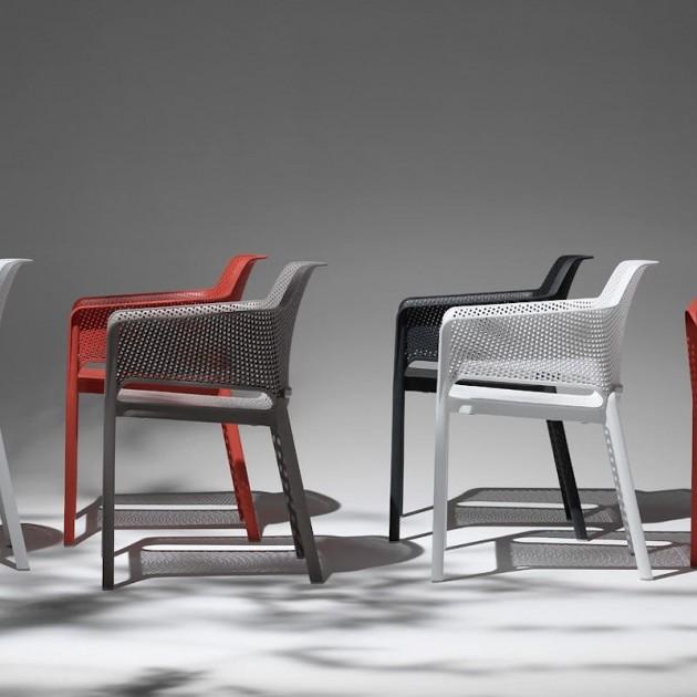Стілець Net Tortora (40326.10.000) - Стільці для вуличних кафе Nardi