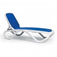 Шезлонг Omega Bianco Blue (40417.00.112) - Пляжні шезлонги Nardi