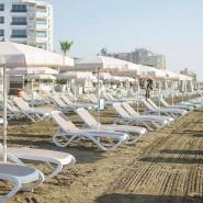 Шезлонг Omega Bianco Beige (40417.00.115) - Пляжні шезлонги Nardi