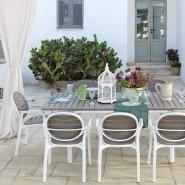 Крісло Palma Bianco Tortora (40237.00.010) - Стільці для вуличних кафе Nardi
