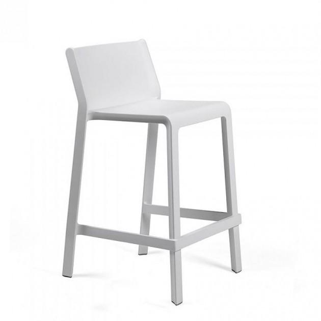 Напівбарний стілець Trill mini Bianco (40353.00.000) - Вуличні барні стільці Nardi
