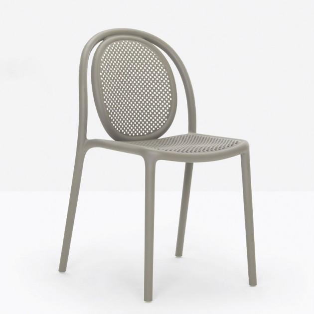 Стілець Remind 3730 Recycled Grey (3730RG) - Стільці для літніх кафе Pedrali