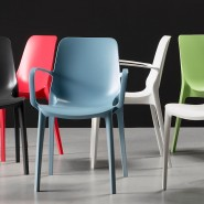 Крісло Ginevra 2333 Light Green (233351) - Вуличні крісла для кафе SCAB Design