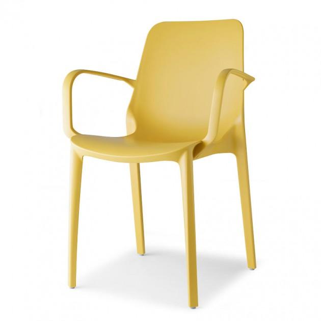 Крісло Ginevra 2333 Mustard Yellow (233322) - Вуличні крісла для кафе SCAB Design
