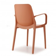 Крісло Ginevra 2333 Terracotta (233373) - Вуличні крісла для кафе SCAB Design