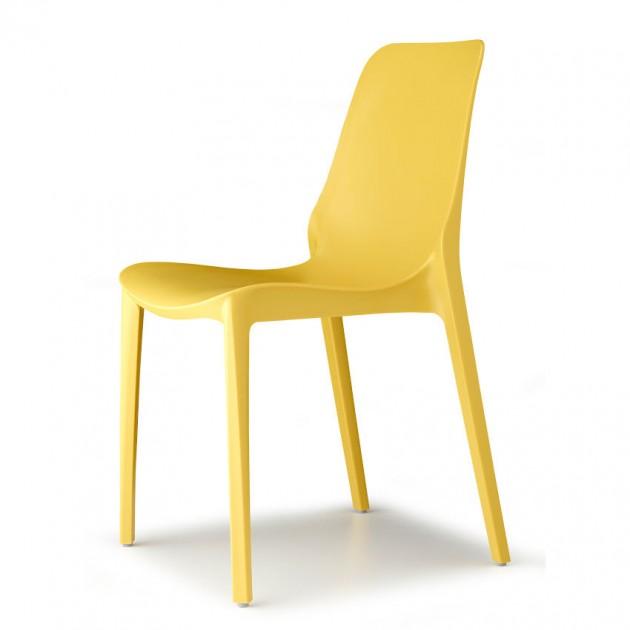 Стілець Ginevra 2334 Mustard Yellow (233422) - Стільці для літніх кафе SCAB Design