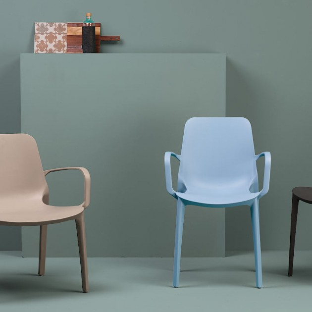 Лаунж-крісло Ginevra 2351 Tortora (235115) - Вуличні крісла для кафе SCAB Design