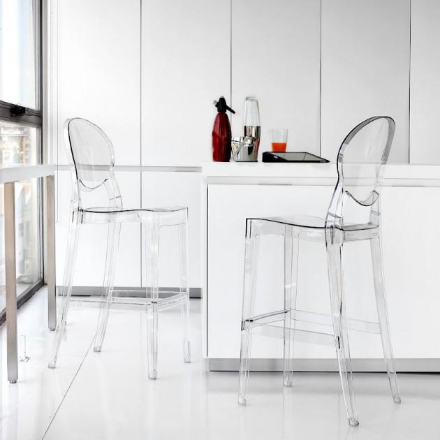 Барний стілець Igloo 2358 Transparent (2358100) - Барні стільці Igloo 2358 SCAB Design