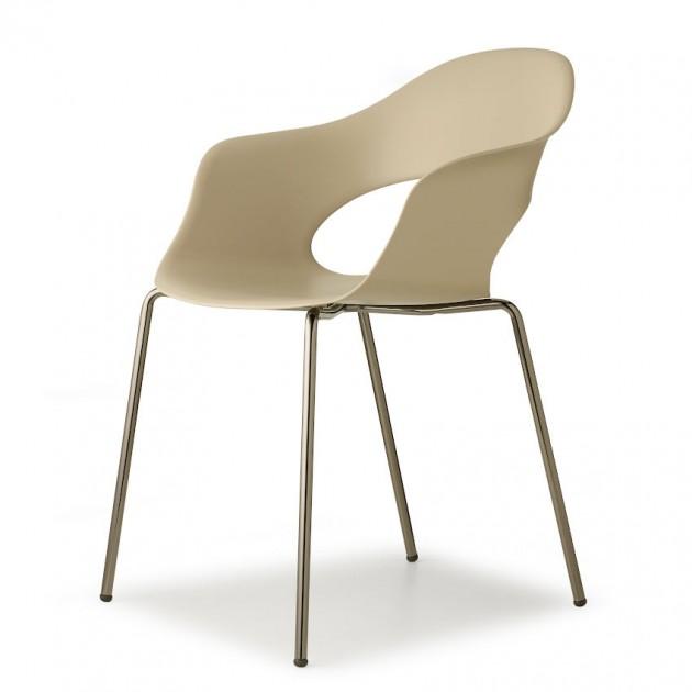Крісло Lady B 2696 Glossy Nickel Dove Grey (2696NL15) - Крісла Lady B 2696 Indoor S•CAB