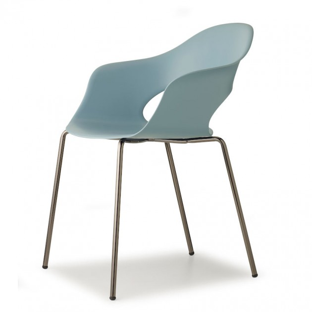 Крісло Lady B 2696 Glossy Nickel Air-force Blue (2696NL63) - Крісла Lady B 2696 Indoor S•CAB