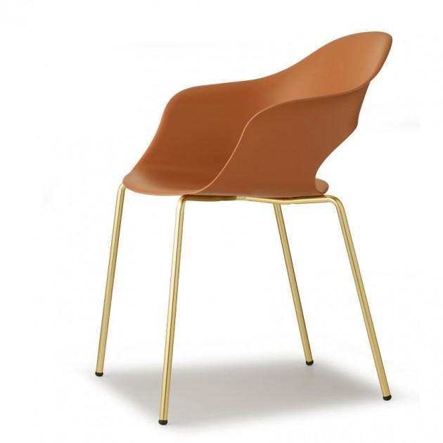 Крісло Lady B 2696 Satin Brass Terracotta (2696OS73) - Крісла Lady B 2696 Indoor S•CAB