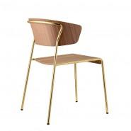 Стілець з підлокітниками Lisa 2850 Wood (2850OSNC) - Lisa 2850 Wood SCAB Design