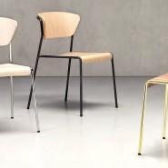 Стілець з підлокітниками Lisa 2850 Wood (2850CRFS) - Lisa 2850 Wood SCAB Design
