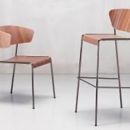 Стілець з підлокітниками Lisa 2850 Wood (2850NLNC) - Lisa 2850 Wood SCAB Design