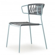 Крісло Lisa Filò 2869 Antracite Light Blue (2869ZON81) - Lisa 2869 Filò S•CAB