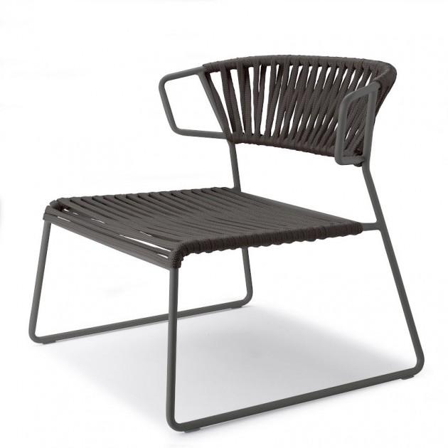 Лаунж-крісло Lisa Lounge Filò 2878 Black Antracite (2878ZAN80) - Крісла Lisa 2878 Lounge Filò S•CAB