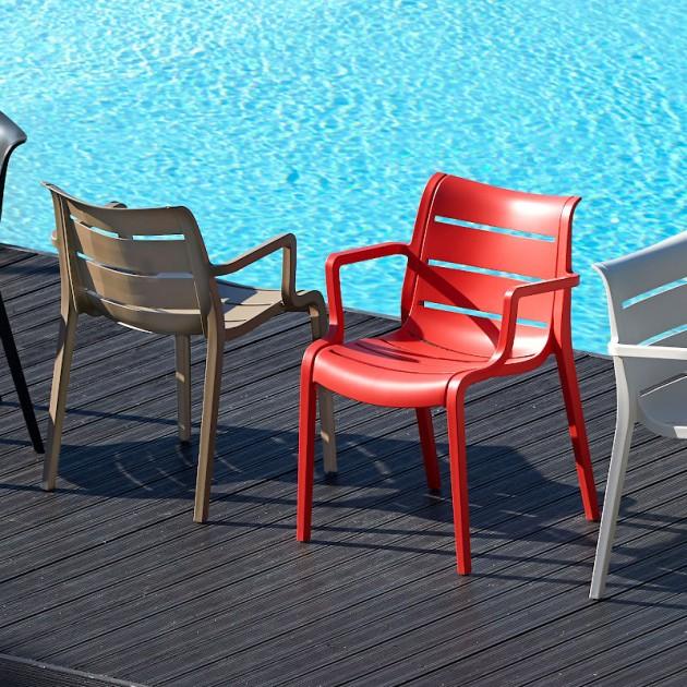 Крісло Sunset 2329 Antracite (232981) - Вуличні крісла для кафе SCAB Design