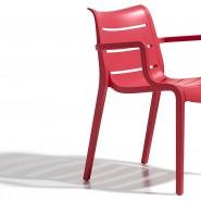 Крісло Sunset 2329 Rosso Geranio (232942) - Вуличні крісла для кафе SCAB Design