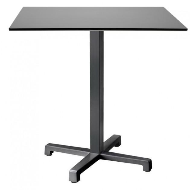 Стіл Cross 70x70 Antracite (5090VA+529781) - Обідні столи S•CAB
