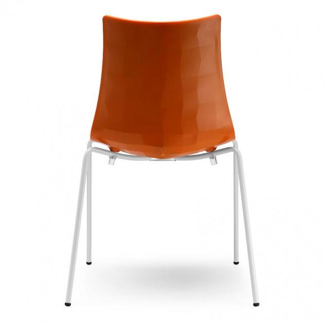 Стілець Zebra 2272 Bicolore Bianco Orange (2272VB211) - Стільці Zebra 2272 Bicolore S•CAB