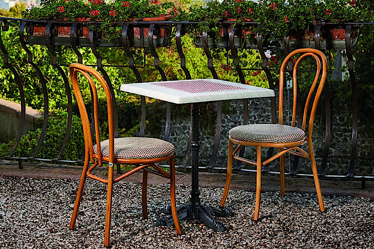 Стільці Tosca для літніх майданчиків ресторанів та кафе від Antiga