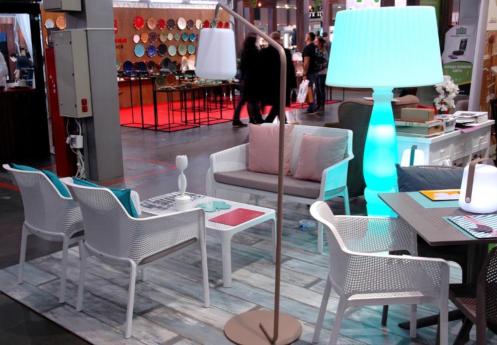 Садова лава Net Bench, крісло Net Relax і кавовий столик Net 100