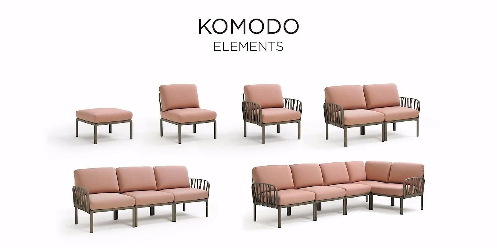 Елементи що входять до складу вуличного комплекту Komodo 5 від Nardi