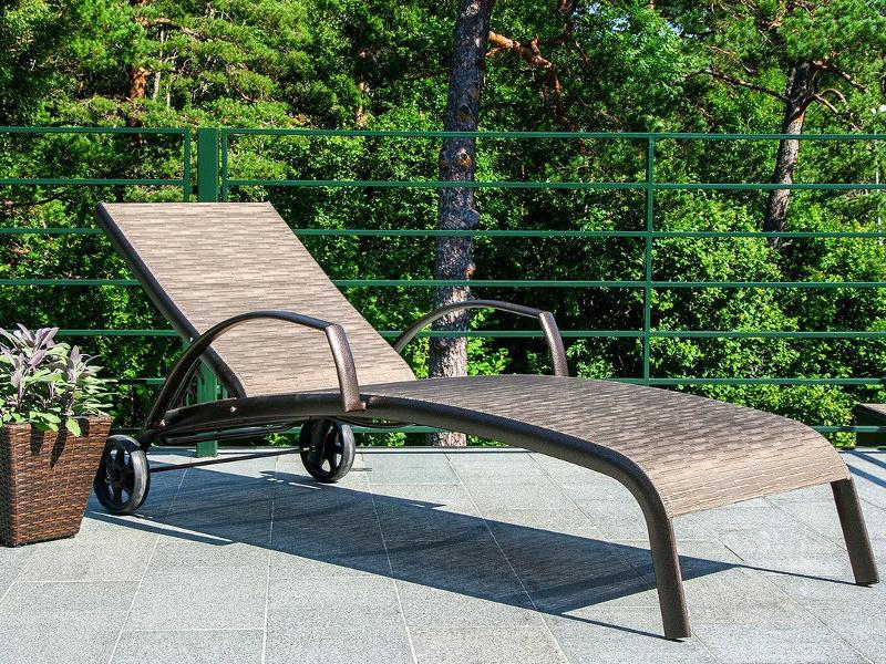 Лежаки для басейну Montreal • Купити лежаки з текстилену на алюмінієвому каркасі Garden4You