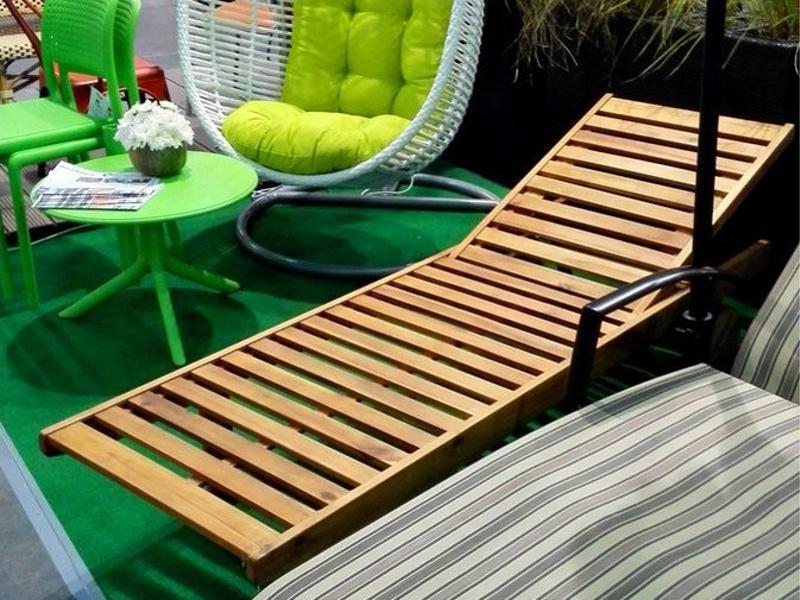 Дерев'яні лежаки для лазні з масиву акації • Купити лежаки для лазні Garden4You