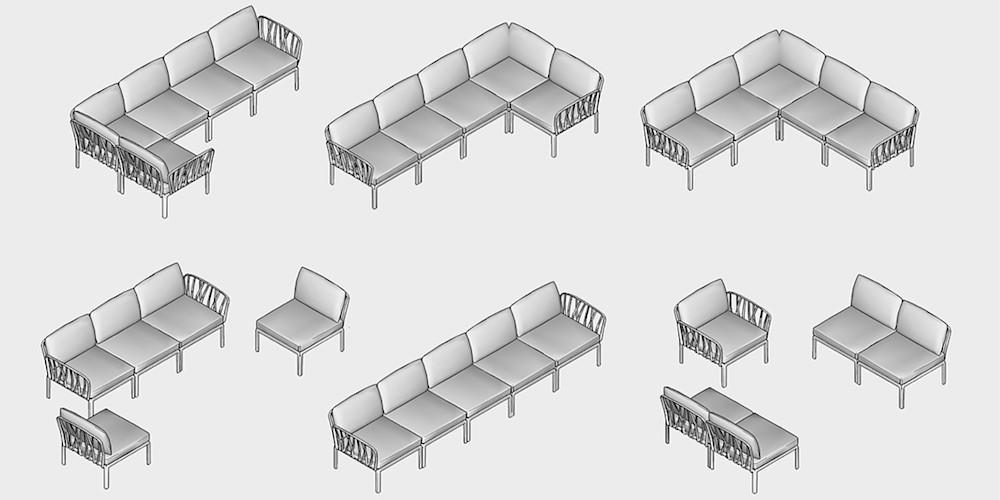 Купити модульний диван Nardi Komodo 5