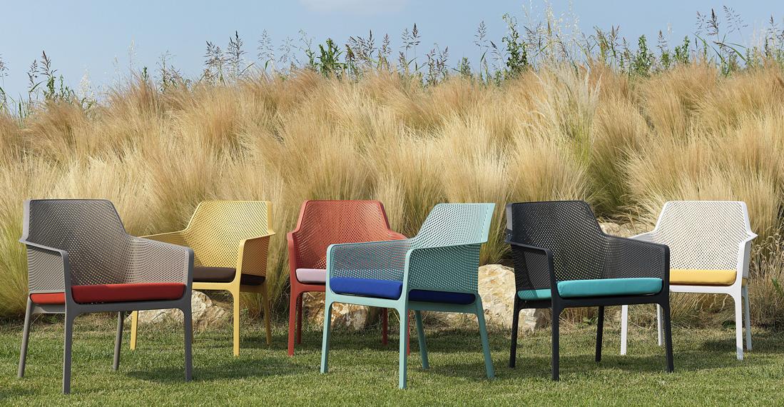 Кольорова гама колекції стільців Net і крісел Net Relax